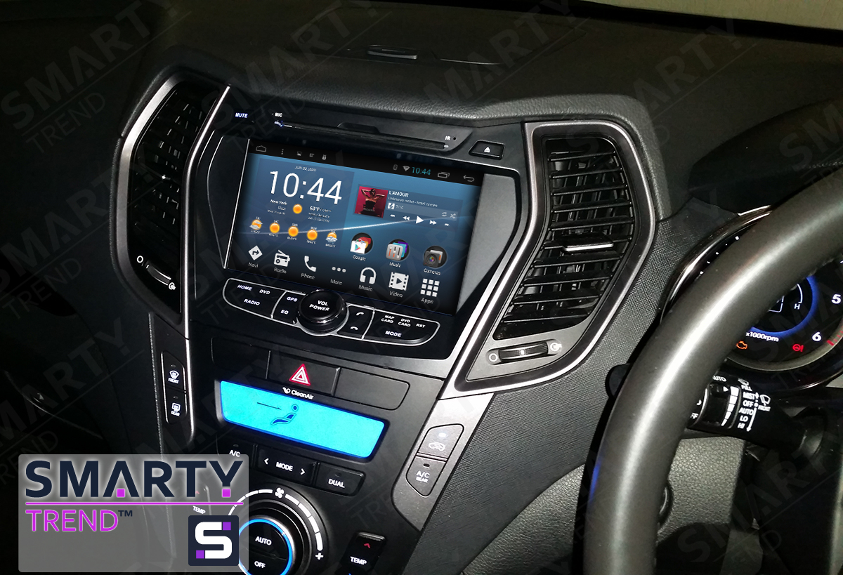Hyundai Santa Fe 2012-2016 Android in-dash Car Stereo Navigation head unit - SMARTY Trend - Info ...