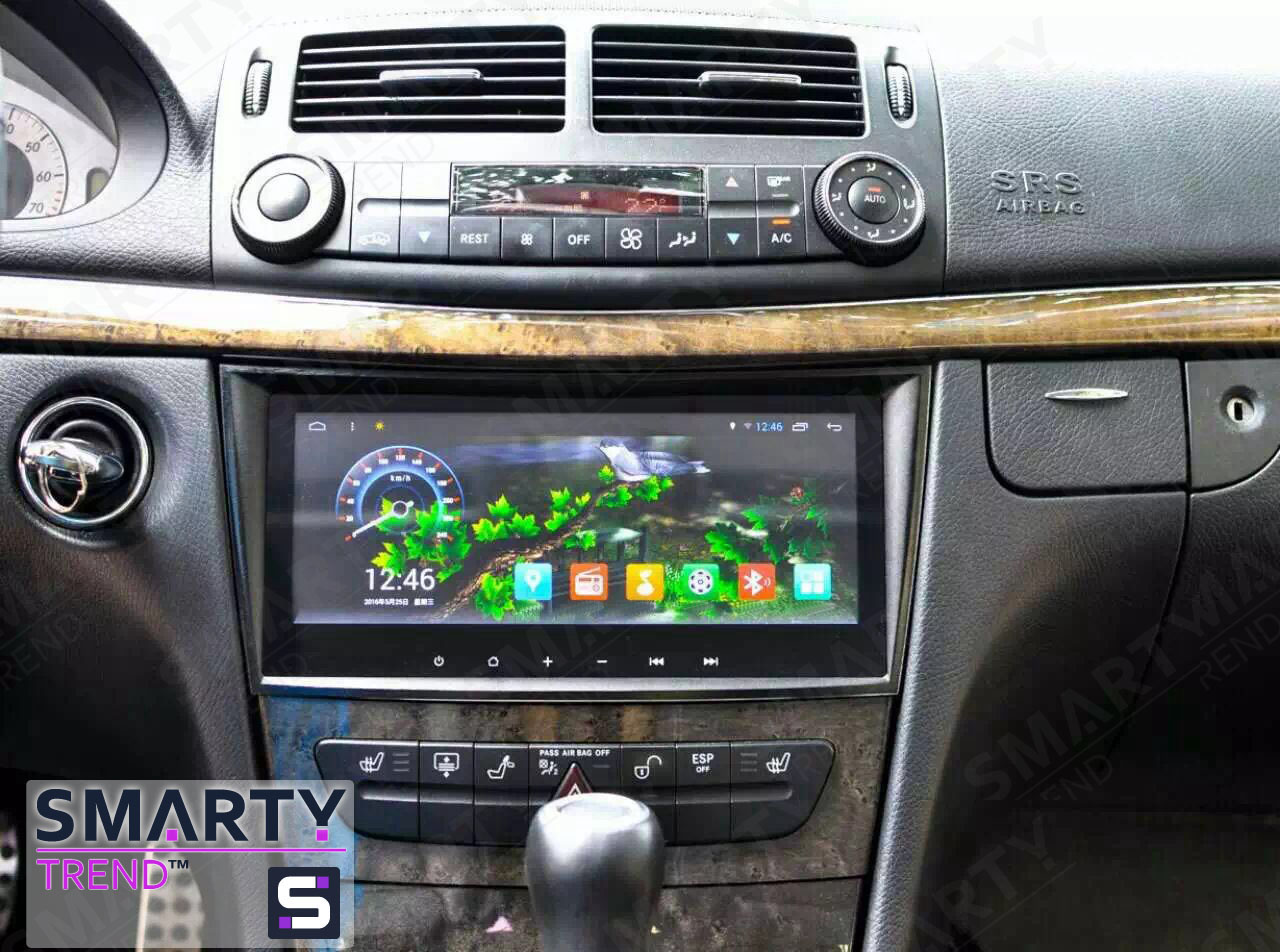 mercedes e class w211 android in dash car stereo. Black Bedroom Furniture Sets. Home Design Ideas