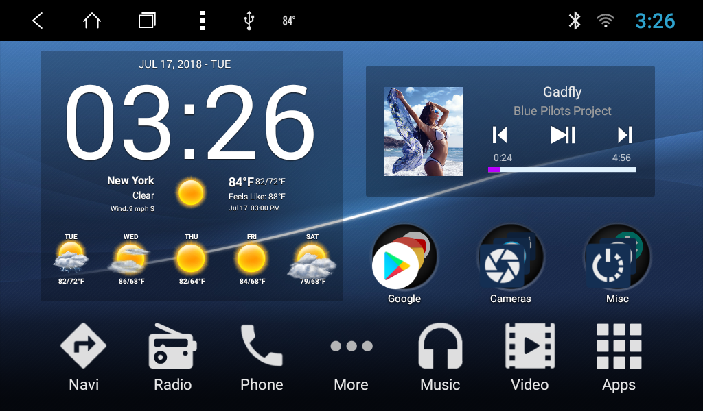 SMARTY Trend Android home screen
