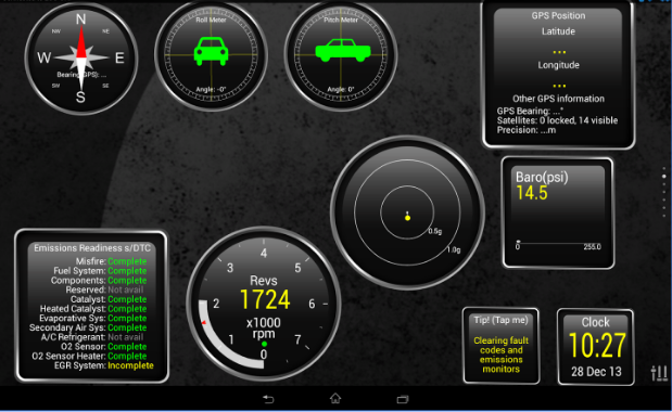 Torque app interface