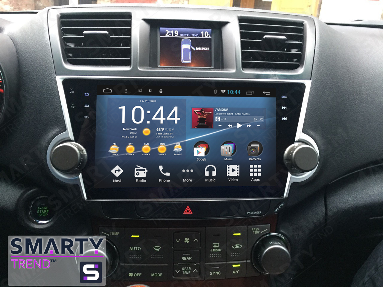 "Toyota Highlander Android head unit , Full-touch 10.1 ""Android 4.4.4 - SMARTY Trend."