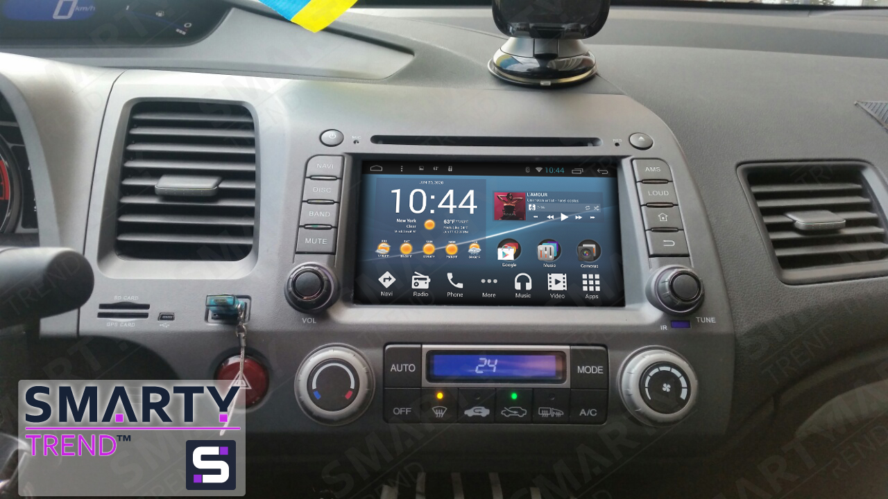 Honda CIVIC 4D 2006-2011 Android in-dash Car Stereo Navigation head unit - SMARTY Classic