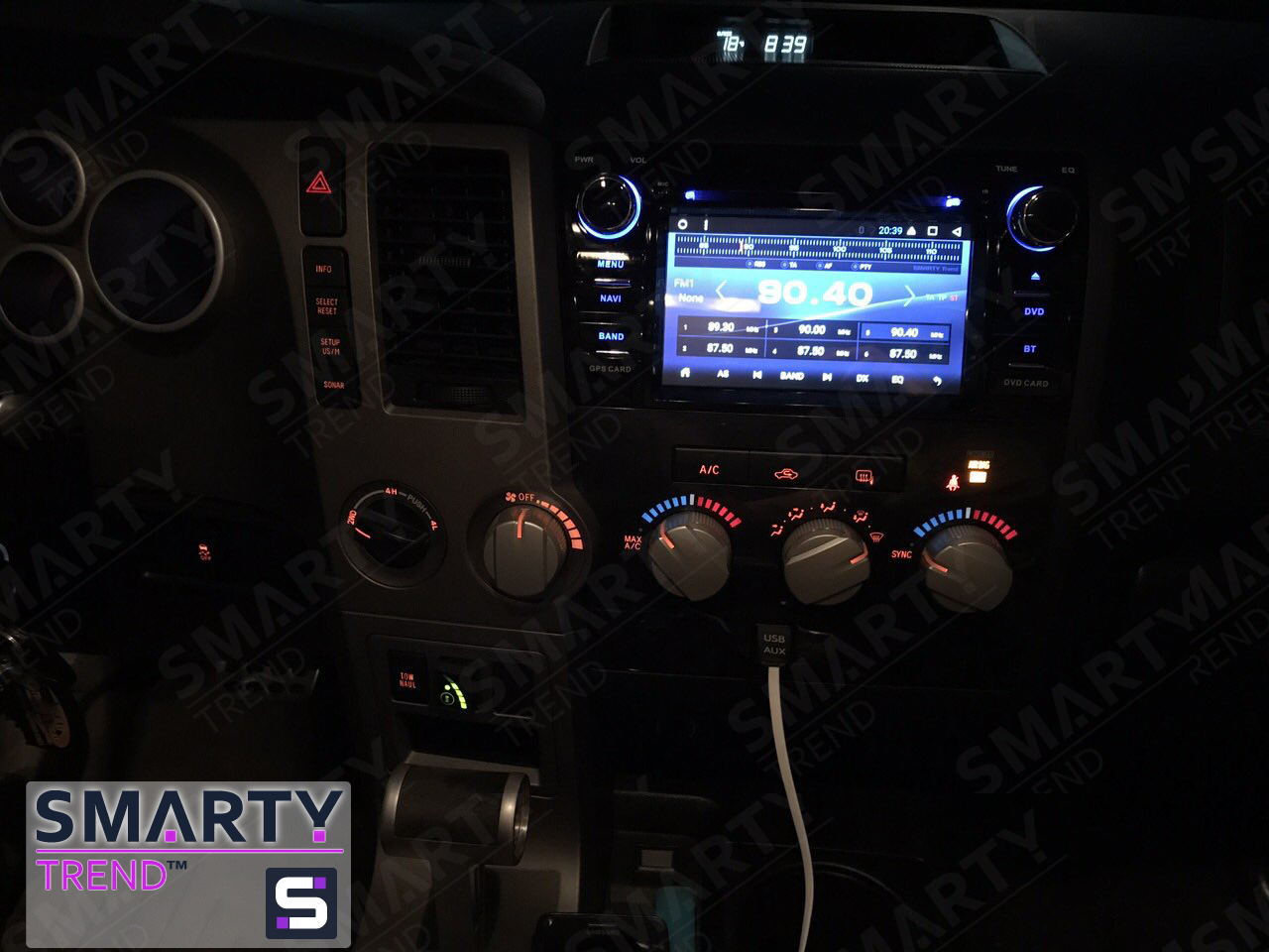 The SMARTY Trend head unit for Toyota Sequoia