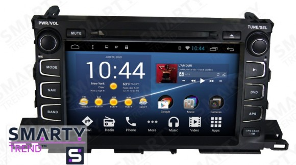 SMARTY Trend Entertainment Multimedia for Toyota Highlander (2014-2016) video review.