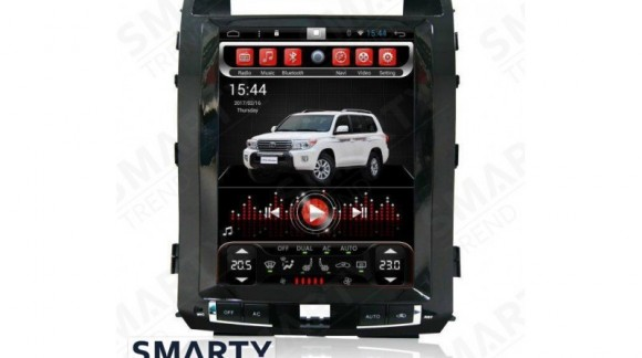 The SMARTY Trend Entertainment Multimedia for Toyota Land Cruiser 200 (2008-2015) video review.