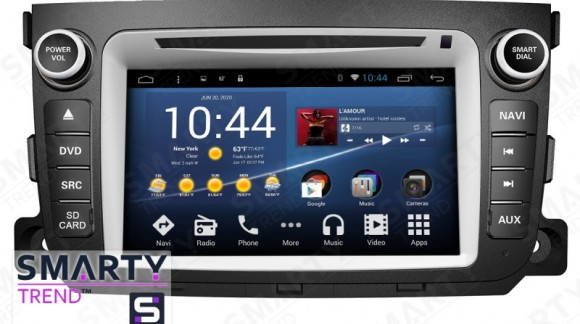 The SMARTY Trend Entertainment Multimedia for Mercedes Smart (2012-2013) video review.