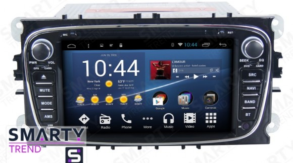 The SMARTY Trend head unit for some Ford models: Mondeo, Galaxy, Kuga, Focus II video review.
