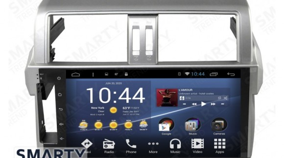 The SMARTY Trend Entertainment Multimedia for Toyota Land Cruiser Prado 150 (2014-2016) video review.