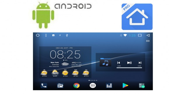 Launcher customization on SMARTY Trend head units.