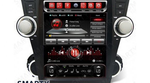 The SMARTY Trend Entertainment Multimedia for Toyota Highlander video review.