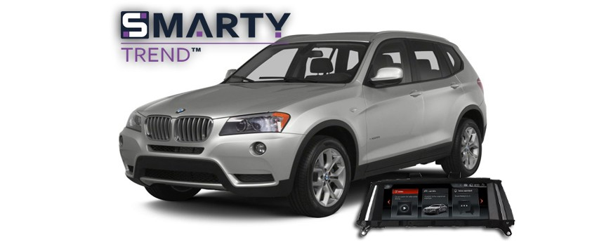 SMARTY Trend head unit overview for BMW X3.