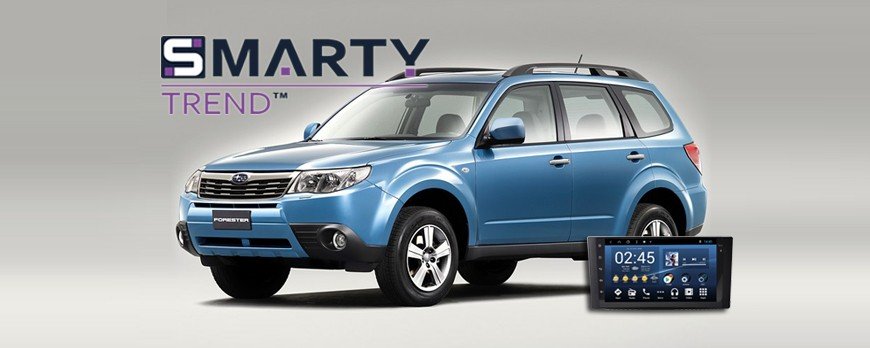 SMARTY Trend head unit overview for  Subaru Forester.