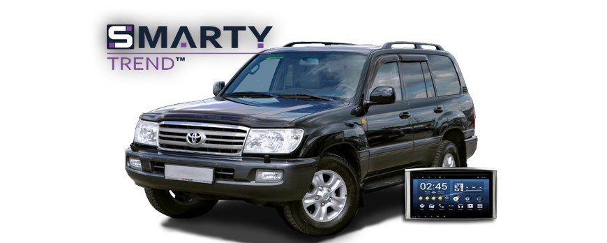 SMARTY Trend head unit overview for Toyota Land Cruiser 100.