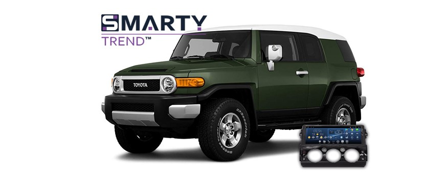 SMARTY Trend head unit overview for Toyota FJ Cruiser.