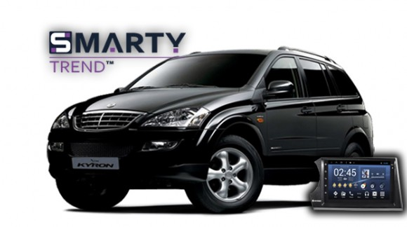 SMARTY Trend head unit overview for SsangYong Kyron.