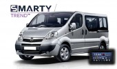 SMARTY Trend head unit overview for Opel Vivaro.