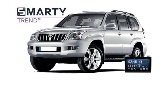 Example of installed SMARTY Trend Entertainment Multimedia in TOYOTA LAND CRUISER PRADO 120