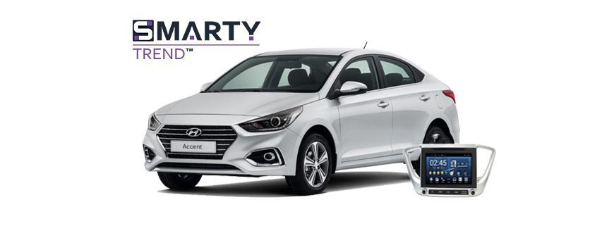Example of installed SMARTY Trend Entertainment Multimedia in HYUNDAI ACCENT/SOLARIS/VERNA