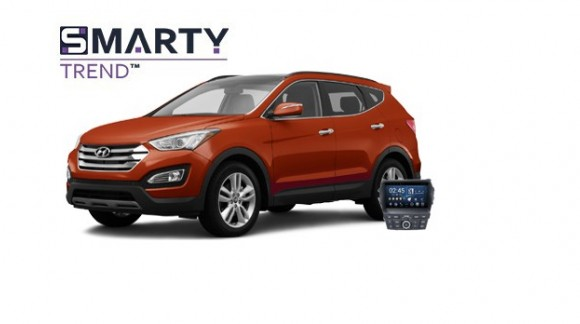 Example of installed SMARTY Trend Entertainment Multimedia in HYUNDAI SANTA FE