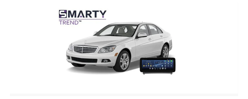 Example of installed SMARTY Trend Entertainment Multimedia in Mercedes-Benz C-Class (W204)