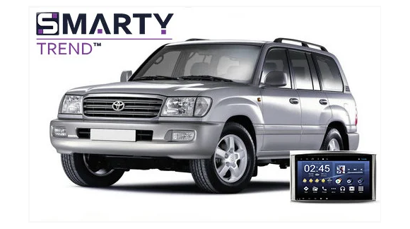 Example of installed SMARTY Trend Entertainment Multimedia in Toyota Land Cruiser 100