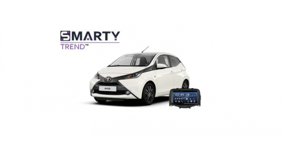 Example of installed SMARTY Trend Entertainment Multimedia in Toyota Aygo
