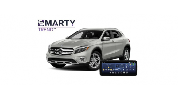 Example of installed SMARTY Trend Entertainment Multimedia in Mercedes-Benz GLA (X156)