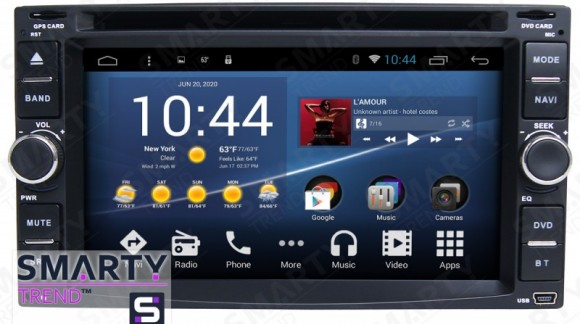 Video review the SMARTY Trend 2 DIN Universal head unit.