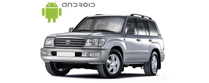 An example of installed SMARTY Trend Entertainment Multimedia on Toyota Land Cruiser 100.