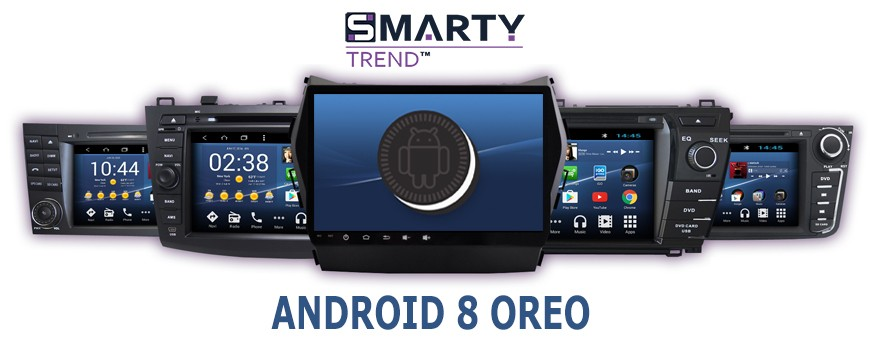 The News of the summer 2018 - SMARTY Trend head units on Android 8.1 Oreo.