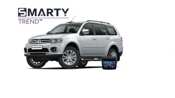 Example of installed SMARTY Trend Entertainment Multimedia in Mitsubishi Pajero Sport