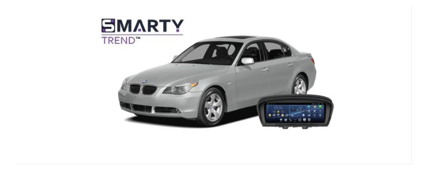 Example of installed SMARTY Trend Entertainment Multimedia in BMW 5 Series (E60)