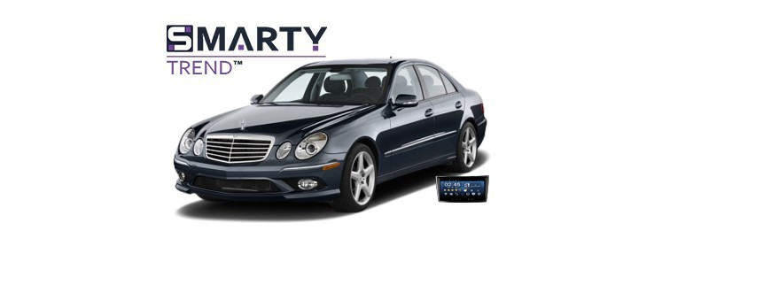 Example of installed SMARTY Trend Entertainment Multimedia in Mercedes Benz E-Class (W211)
