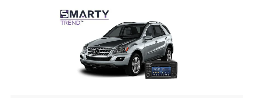Example of installed SMARTY Trend Entertainment Multimedia in Mercedes-Benz ML-Class (W164)