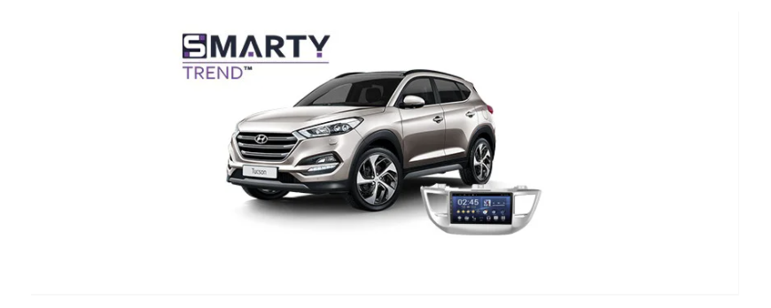 Example of installed SMARTY Trend Entertainment Multimedia in Hyundai Tucson