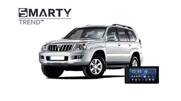 Example of installed SMARTY Trend Entertainment Multimedia in Toyota Land Cruiser Prado 120
