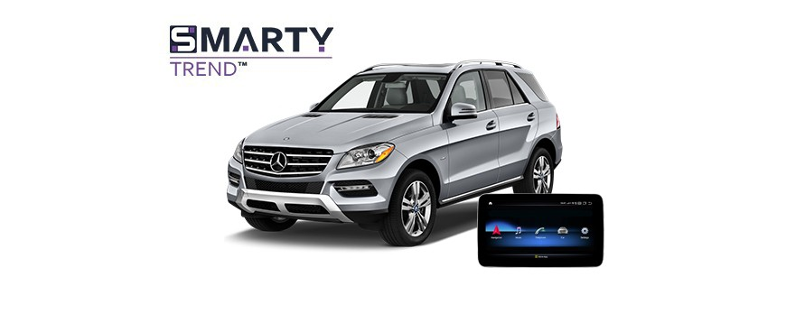 Example of installed SMARTY Trend Entertainment Multimedia in MERCEDES-BENZ ML-CLASS 2014 (W166)