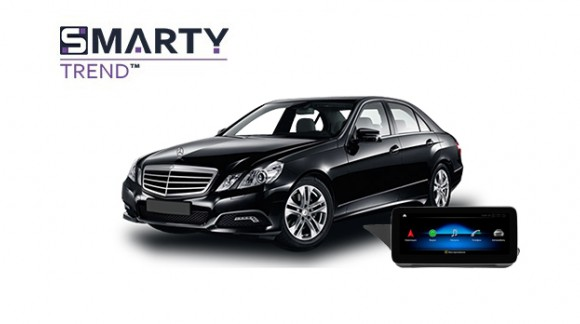 Example of installed SMARTY Trend Entertainment Multimedia in MERCEDES-BENZ E-CLASS 2012 (W212)