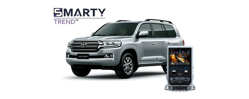 Example of installed SMARTY Trend Entertainment Multimedia in Toyota Land Cruiser 200 2017