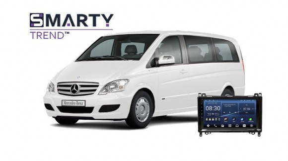 Example of installed SMARTY Trend Entertainment Multimedia in Mercedes-Benz Viano 2011
